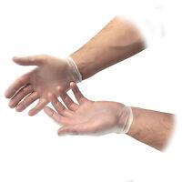 PREMIUM DISPOSABLE NON-STERILE CLEAR VINYL FIRST AID POWDER LATEX FREE GLOVES