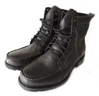 NEW MENS MILITARY COMBAT STYLE ANKLE BOOTS LEATHER LINED SHOES LACE UP/BLACK 7.5