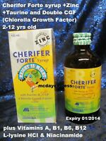 120ml CHERIFER Forte SYRUP Double CGF Growth Height Factor Zinc Vitamins 2-12y