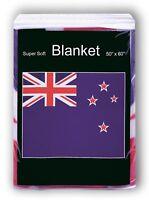 "New Zealand Flag Fleece Blanket *NEW* 50""x60"" Travel Throw Cover Afghan Snuggie"