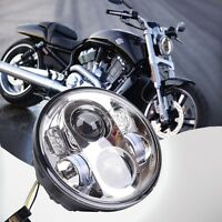 """5.75"""" Motorcycle Chrome Projector Daymaker HID LED Light Bulb Headlight Harley"""