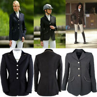 Equi Theme Ladies Fitted Show Competition Jacket Black Navy Grey Brown BARGAIN!!
