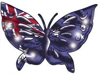 Aussie Butterfly  Size apr 170mm by 130 mm TOP QUALITY DECAL MADE IN AUSTRALI