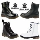 GIRLS WOMENS SCHOOL DR CASUAL PUNK RETRO VINTAGE LACE UP LEATHER DOC BOOTS SIZE