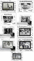 """Moments or Occassions Beveled Glass 6""""x4"""" Photo Frame"""