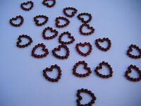 Burgundy Open Heart Wedding Table Confetti Decorations