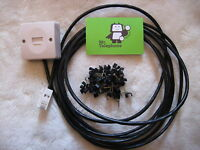 10m BLACK EXTERNAL Twisted Pair Telephone Extension