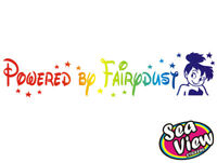Tinkerbell Fairy Powered by Fairydust Wall Car Sticker