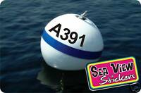 Personalised Boat Mooring Buoy Number Sticker Decal