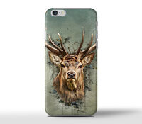 Beautiful Deer Head Moose Hard Case Cover For Apple iPhone Models