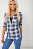 NEW WOMENS GORGEOUS Ladies Check Pattern Shirt SIZES 6 8 10 12 14