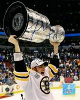Tyler Seguin Boston Bruins signed autographed raising Stanley Cup 8x10