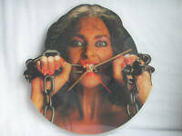 """WASTED""""WOMEN IN CHAINS""""SHAPED PICTURE DISC CLOCK"""