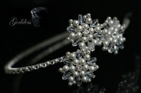 Bridal Side Tiara made Swarovski Crystal Beads, Pearls & Rhinestones