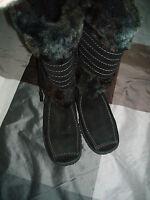 Hechter Stiefel Fellstiefel Boots  schwarz Wildleder Fell  Gr. 37 NEU