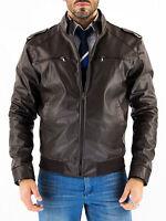 DE Herren Lederjacke Biker Men's Leather Jacket Coat Homme Veste En cuir T3XA