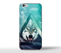 Angry Lonely Wolf Triangle Hard Case Cover For Apple iPhone Models