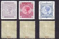 Queen Victoria 1883-84 High Value Set (FORGERIES)