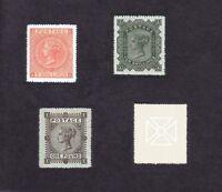 Queen Victoria 1867-83 High Value Set SG126-128-129(FORGERIES)