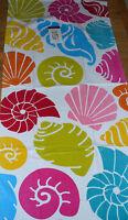 "NWT Sea Shell Beach Bath Towel Plush 28"" x 58""  Multi - Color Nice!!"