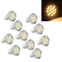 10x GU10 5W 16 5630 SMD LED Lampe Spot High Power Strahler Warmweiss AC GY