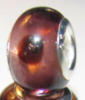 Purple Polka Dots Lampwork Murano Glass Bead for Silver European Charm Bracelets