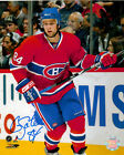 """Original 8""""X10"""" color Photo autographed Guillaume Latendresse Montreal Canadiens"""