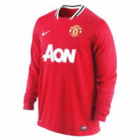 Manchester United FC Mens Football Shirt Nike Home Long Sleeved Dri-fit 2011-12