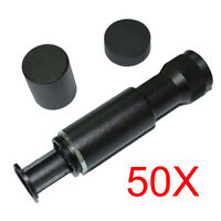 50X Metal Pocket Handheld Microscope Magnifier Jewelry Loupe Magnifying Glass