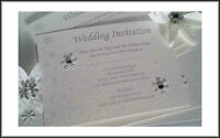 PERSONALISED WINTER WEDDING / EVENING INVITATIONS x10 PACK SNOWFLAKE DESIGN