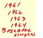singles $1 each from 1960 1961 1962 1963 1964 Topps Baseball set lot- you pick