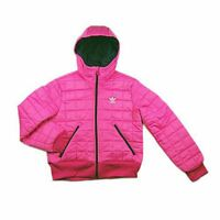 Girls Adidas Originals Pink Padded Jacket Junior Hooded Coat Kids Age 7-8 NEW