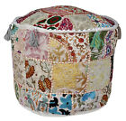 Indian Pouf-Ottoman-Pouffe-Poof-Round-Pouf-Ethnic-Decorative-Pillow Cover Decor