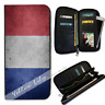 Ladies Leather Zipper Clutch Wallet & Phone Purse France Flag Y00229