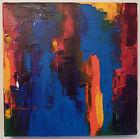 Original Art Acrylic Abstract Painting Canvas Artwork Palette Knife Warren Green