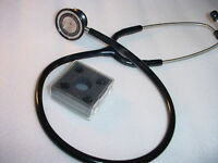 Abertek NEW Adult & Pediatric Cardiology Stainless Steel Stethoscope EMT & nurse