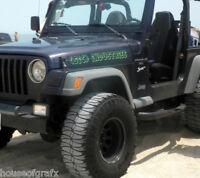 Custom hood decal decals for Jeep CJ Renegade Wrangler