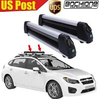 Flat Ski Roof Rack Carriers Unversal For Crossbar Carry 4 Snowboard; 6 Pair Skis
