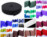 50mm /2 inch wide elastic, sold as 1, 5, 10 m, 25 colours, craft sewing woven