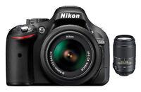 Nikon D D5200 24.1MP Digital SLR Camera - Black (Kit w/ VR 18-55mm and VR...