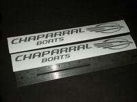 "Chaparral Boats Silver Decal 12"" Stickers (Pair)"