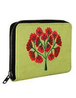 Indian Handmade Floral Embroidered Clutch Bag Green Designer Purse Women Bag