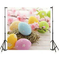 Vinyl Photo Backdrops Easter Colorful Eggs Photography Background Studio Props