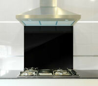 Coloured Glass Splashback in Various Colours & Sizes Heat Resistant to 500°C