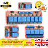 5V or 12V 1-2-4-8-16 Channel Relay High Low Level Optocoupler Module Arduino PI