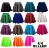 Womens ladies skirts belted flared plain mini skater skirt girl all sizes-pnT