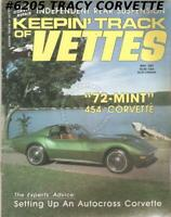 MAY 1987 KEEPIN' TRACK OF VETTES Miami Grand Prix Lieberman's 1972 MINT Coupe