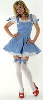 SEXY DOROTHY, WIZARD OF OZ FANCY DRESS COSTUME OUTFIT, SIZE: L (14-16)