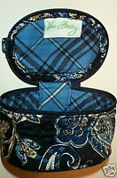 Vera Bradley Retired Rare Promo Windsor Navy Small Zip Case Storage Cosmetic