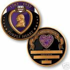 """PURPLE HEART AWARD BLACK ENGRAVABLE 1.75"""" MADE IN USA CHALLENGE COIN"""